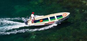 barca per la grotta verde